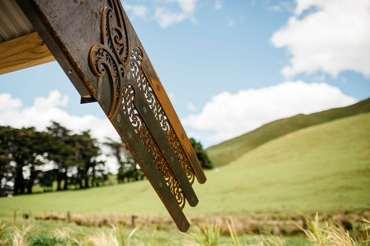 Tū Te Manawa project, Ngāmoko Whare, Manawatū River Road, Norsewood - carving detail