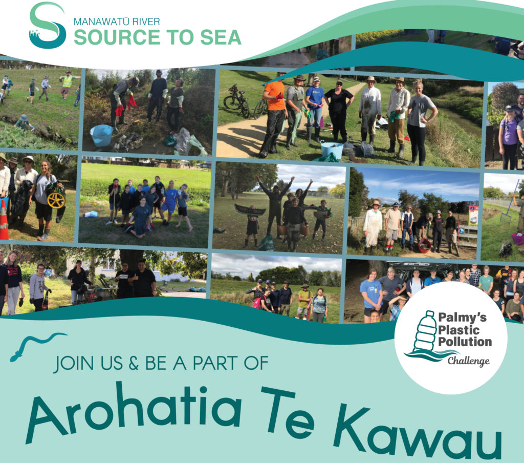 'Arohatia Te Kawau' this spring and join Palmy's Plastic Pollution Challenge